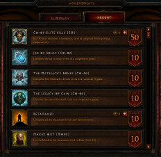 Achievements in Diablo 3