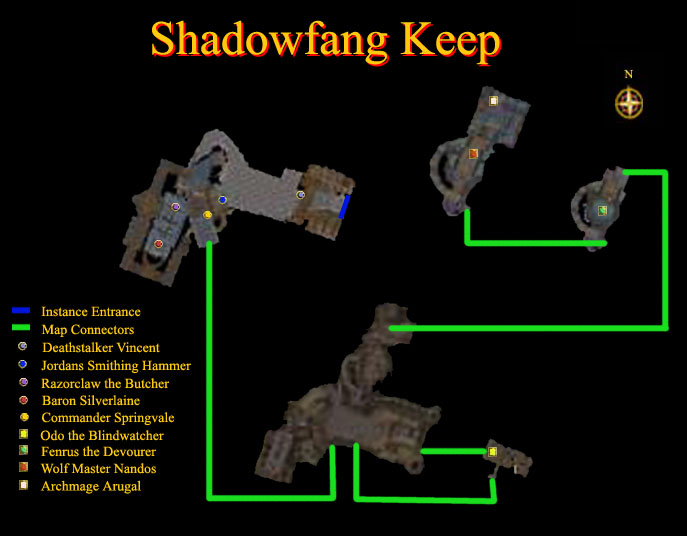 Shadowfang Keep Instance Map